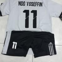 Baju Futsal Kaos Bola Stelan Jersey Dewasa + Sablon Nama & Nomor