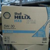 oli Shell Helix HX8 SAE 5W-30 100% asli kemasan 4liter khusus gosend