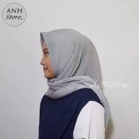 hijab segiempat plisket bahan voal luxe