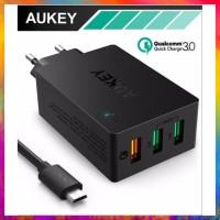 TERMURAH AUKEY QUALCOMM PA T14 QUICK CHARGE 3 0 3 PORT USB