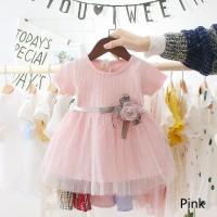 Dress Baju Pesta Putri Motif Bunga Anak Perempuan 1 2 3 Tahun