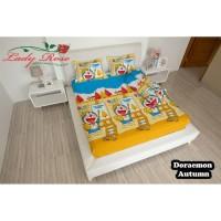 Bedcover Lady Rose + Sprei Rumbai Size 180x200 Motif Doraemon Autumn