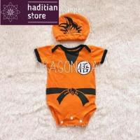 Baju Bayi Jumper Topi Kostum Anak Cowok Perempuan Newborn Dragon Ball