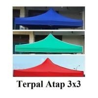 atap tenda lipat bahan 1080d semua ukuran - Biru