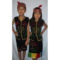 Baju adat anak - Pakaian adat anak- Baju adat Kalimantan Barat-Dayak