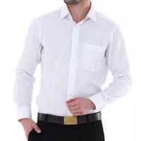 Kemaja Pria Putih Polos Lengan Panjang / Seragam Baju Lapangan Kantor