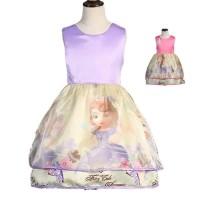 Baju Anak Dress Princess Sofia the first Ungu