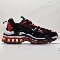 Sepatu Balenciaga Triple S Vapor Black Red Premium Original