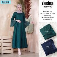 yasina maxy 2 baju gamis broklat wanita muslim gaul masa kini