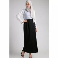 Rok Panjang Hitam Polos Katun Muslimah Hijab TOV99