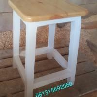 Dingklik/ bangku bakso kayu jati belanda 30x30x45cm