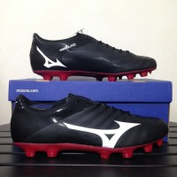 Sepatu Bola Mizuno Rebula V4 Black Tango Red P1GA187701 Original