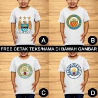 Manchester City Baju Kaos Bola Anak dan Balita Custom Teks/Nama
