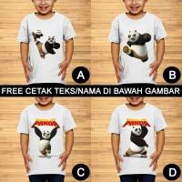 Kungfu Panda Baju Kaos Anak dan Balita Karakter Custom Teks/Nama