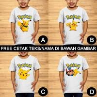 Pokemon Go Pikachu Baju Kaos Anak dan Balita Custom Teks/Nama