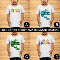 Baby Shark Baju Kaos Anak dan Balita Kartun Custom Teks/Nama