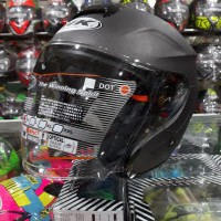 Helm Half Face INK Dynamic Solid Grey Doff