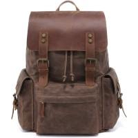 backpack 15.6 Inch Laptop leather waterproof Bag vintage for Men