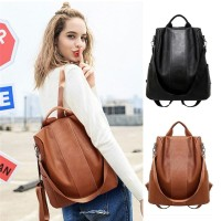 BP40 Tas Ransel Wanita Kulit PU Cool Girl Anti Thift Backpack