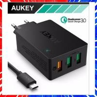TERLARIS AUKEY QUALCOMM PA T14 QUICK CHARGE 3 0 3 PORT USB