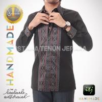 Kemeja Pria / Pakaian Formal / Hem / Baju Tenun Asli Motif Ayaman