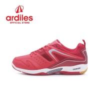 Ardiles Men Glissando Sepatu Badminton - Merah