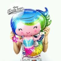 balon foil mermaid body / balon mermaid badan / balon karakter duyung