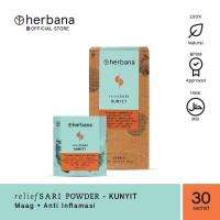 Herbana Relief Sari Powder Kunyit - Isi 30 Sachet @4g