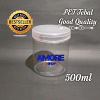 Toples Tabung 500ml - 600ml Jar Premium Toples Plastik Kue Snack Murah