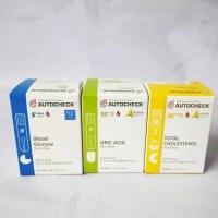 Paket Strip Autocheck Kolesterol,Gula darah,Asam urat Autocheck Check