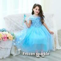 BAJUKIDDIE FROZEN SPARKLE kostum anak princess elsa anna putri frozen