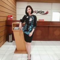 Blouse Batik Kantoran Motif Sakura | Baju batik Atasan Kerja Wanita