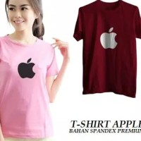 kaos tee tshirt apple apel baju wanita blouse t shirt casual