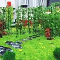 Tanaman Pohon Bambu Mini Untuk Bonsai Plastik Diorama Maket - MNB23