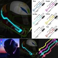 Lampu Led Helm Motor Strip stiker Vlog tron movie el tape wire purge