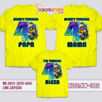 Jual Baju Kaos Family Ultah   Kaos Keluarga Couple Minion NW 1092