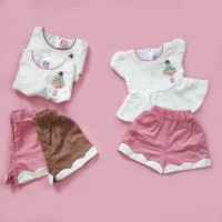 Dress Baju Anak Perempuan Simple Umur 1 - 4 Tahun BAHAN KATUN LEMBUT