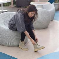 Sepatu Boots Safety Wanita Azcost Tactical Kulit Suede