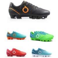 Sepatu bola ortuseight genesis fg black - red - blue - hijau