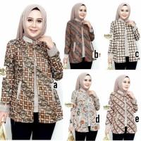 Blouse batik/Baju Batik Wanita/Blus Batik/Baju Kantor BL - 849