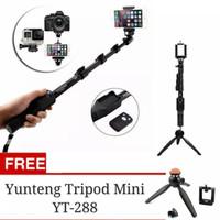 Tongsis Bluetooth YUNTENG YT-1288 +MINI Tripod YUNTENG (HIGH QUALITY))