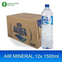 AQUA Air Mineral 1500ml (12 botol) - (Gojek only)