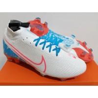 Sepatu Bola - Soccer Nike Mercurial Superfly 7 White Pink Blue - FG
