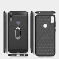 Case Asus Zenfone 5 2018 ZE620KL Fiber Carbon Armor Holder Magnetik
