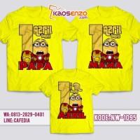 Jual Baju Kaos Family Ultah   Kaos Keluarga Couple Minion NW 1095