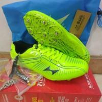 Sepatu Spike Sprint / Lari / Atletik / Pool Paku HEALTH 112 LIME GREEN