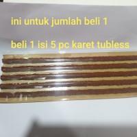 5 pcs Refil Karet Tambal Ban Tubles Tubbles Motor Mobil Cacing karet