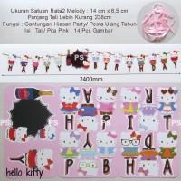 Hello Kitty Hiasan Dekorasi Pesta Ulang Tahun Garland or Flag Bunting