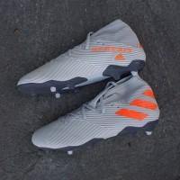 Sepatu Bola Adidas Nemeziz 19.3 FG Grey Solar Orange EF8387 Original