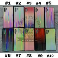 IPHONE 11 PRO 5.8 GLASS AURORA RAINBOW GRADIENT HARD SOFT CASE COVER